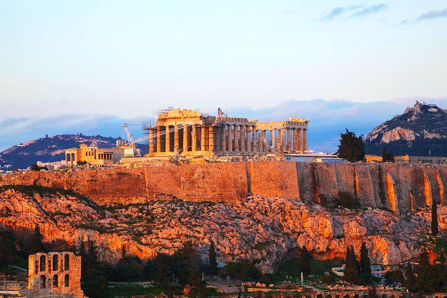 Widok na Akropol, Ateny