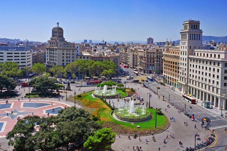 Plac Kataloński wBarcelonie