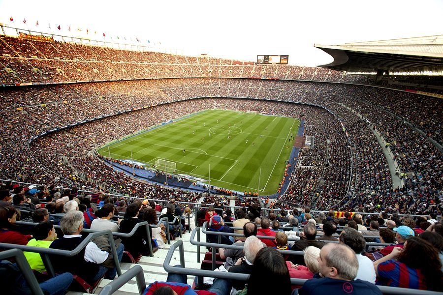 Stadion Camp Nou wBarcelonie
