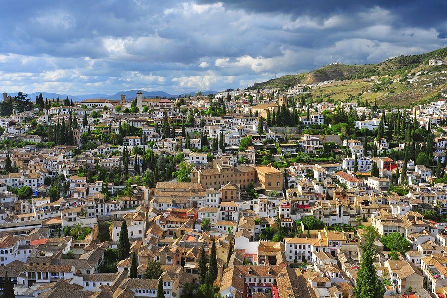 Dzielnica Albaicin wGranadzie
